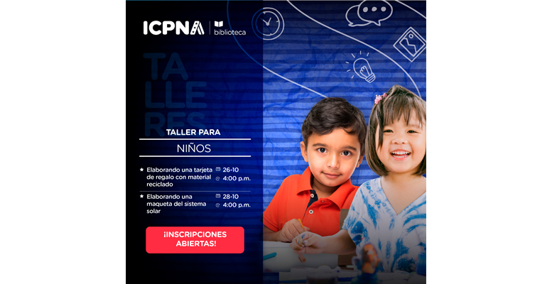 Talleres gratuitos para niños organizado por Bibliotecas ICPNA